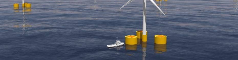 IHCantabria realizará ensayos experimentales dirigidos a desarrollar un innovador sistema de predicción de cargas en los sistemas de fondeo en plataformas flotantes para la generación energía en el mar