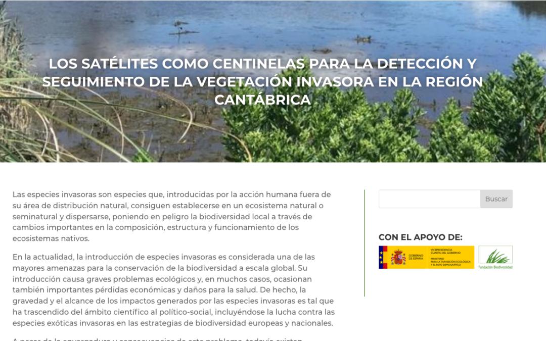 IHCantabria comienza el proyecto INVASAT, que utilizará imágenes de satélite para caracterizar la superficie colonizada por vegetación invasora en la región Cantábrica.