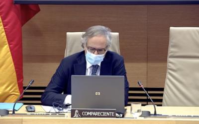 (Español) El Director de Investigación de  IHCantabria, Íñigo Losada, comparece en la Comisión de Transición Ecológica y Reto Demográfico en relación al proyecto de Ley de Cambio Climático y Transición Energética
