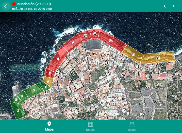 "The early warning system for the prediction of coastal flooding events developed by IHCantabria in the municipality of Garachico (Tenerife), proved its effectiveness during the storm caused by the ""Epsilon"" storm"