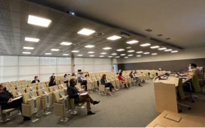 (Español) Reunión en las instalaciones de IHCantabria de la comisión de seguimiento del plan integral de gestión de la Bahía de Santander